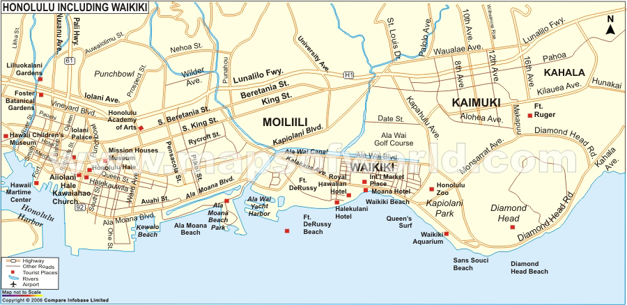 Maps Honolulu Map
